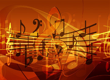 Musica-chiave di violino-note-pentagramma