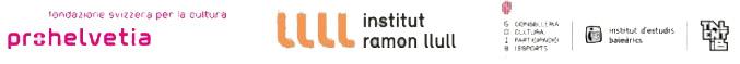 logo  Fondazione svizzera per la cultura PROHELVETIA; Institut ramon llull ;