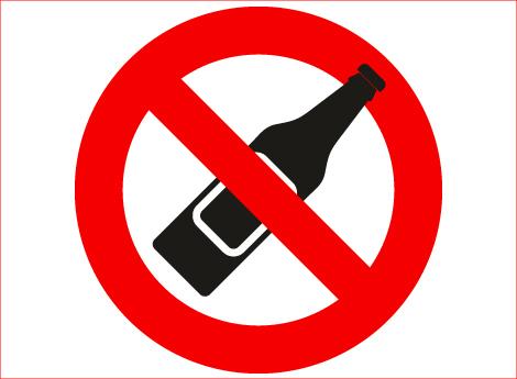 Immagine divieto utilizzare bottiglie di vetro
