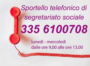 Sportello Telefonico di Segretariato Sociale -  335 6100708