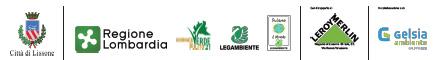 loghi Città di Lissone   Regione Lombardia - Puliamo il Verde - LegaAmbiente - Puliamo il mondo   Leroy Merlin   Gelsia abiente