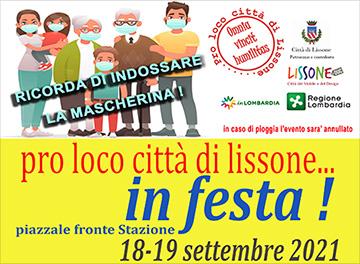 """Lissone- particolare volantino evento """"Pro Loco in festa"""" 2021"""