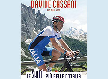 """Frammento copertina libro  """"Le salite più belle d'Italia"""""""