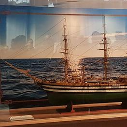 Il modello della «Amerigo Vespucci»