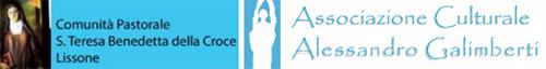 Loghi: Comunità Pastorale S. Benedetta della Croce - Associazione culturale Alessandro Galimberti