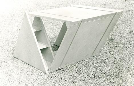 Ugo La Pietra, prototipo di un elemento del progetto Occultamento, 1972 - Foto 4