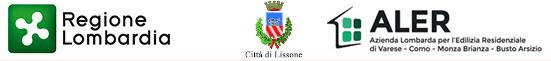 loghi Regione Lombardia |  Città di Lissone | ALER Azienda Lombarda per l'Edilizia Residenziale di Varese - Como - Monza Brianza - Busto Arsizio