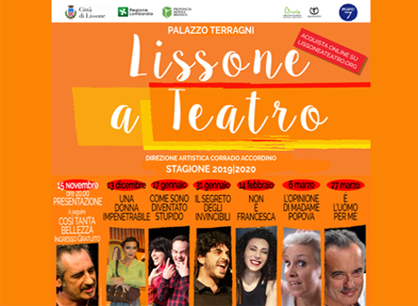 """LISSONE A TEATRO"" - Stagione 2019-2020"