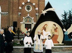 Immagine Presepe con Mons. Luigi Allievi