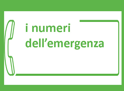 icona  numeri dell'emergenza