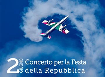 porzione locandina Concerto per la Festa della Repubblica
