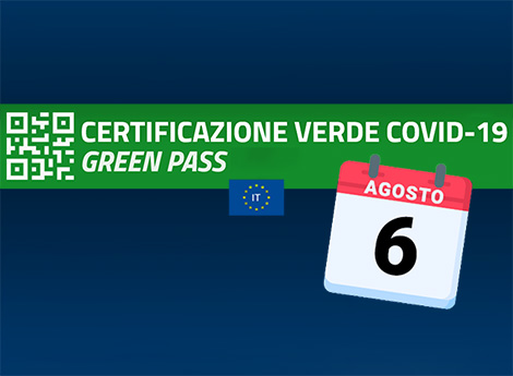 Certificazione verde Covid-19 (Green Pass) dal 6 agosto
