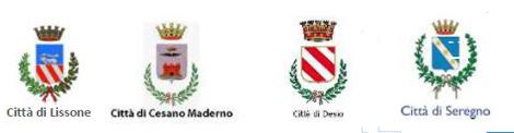 Stemma Città di Lissone, Città Cesano Maderno, Città di Desio e Città di Seregno