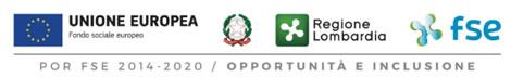 loghi Unione Europea, Regione Lombardia,  fse / opportunita' e inclusione,