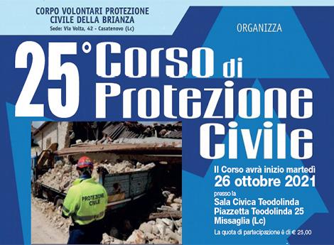 Lissone - 25° Corso per nuovi volontari di Protezione Civile
