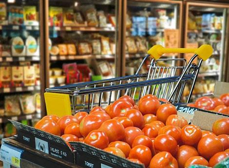 Immagine interno supermercato