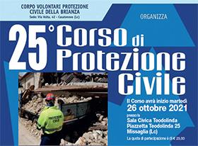 25° Corso per nuovi volontari di Protezione Civile