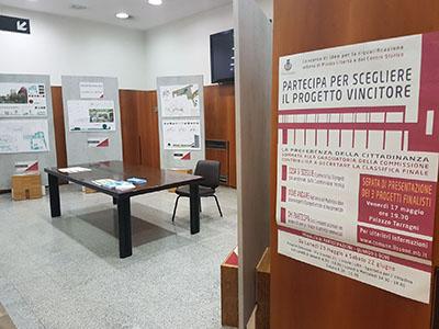 Atrio Palazzo comunale - mostra progetti finalisti