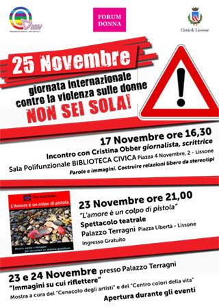 Lissone- Giornata Internazionale contro la violenza sulle donne, Lissone si «tinge» di rosso