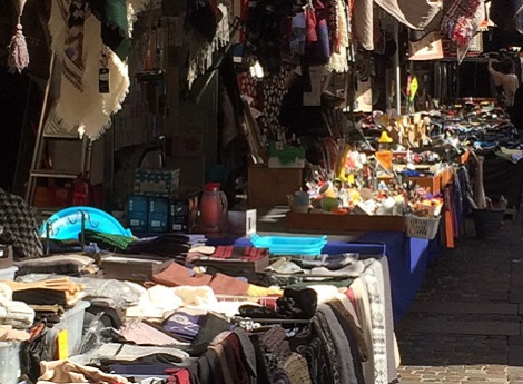 foto bancarelle mercato