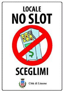 """Immagine cartello: """"Locale no slot sceglimi"""" Città di Lissone"""