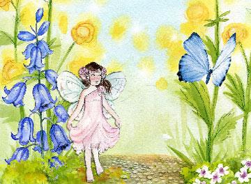 Immagine Immagine fatina fra i fiori