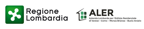 loghi Regione Lombardia  | ALER Azienda Lombarda per Edilizia Residenziale di Varese, Como, Monza Brianza, Busto Arsizio