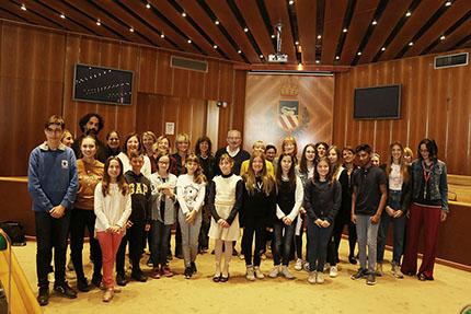 Foto conferenza stampa Consiglio Comunale dei ragazzi