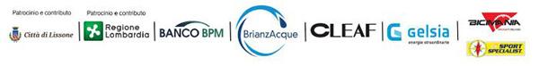 patrocinio e contributo Città di Lissone | Regione Lombardia | BANCO BPM | BrianzAcque | CLEAF | Gelsia | Bicimania Sport Specialist