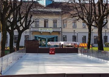 Lissone-Pista di pattinaggio nella nuova location di Piazza IV Novembre