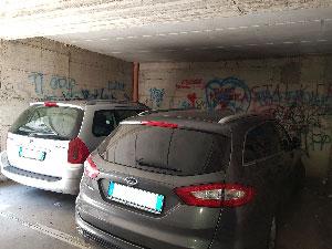 Immagine parcheggio prima della pulizia