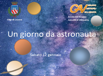 """particolare locndina evento """"Un giorno da astronauta"""""""
