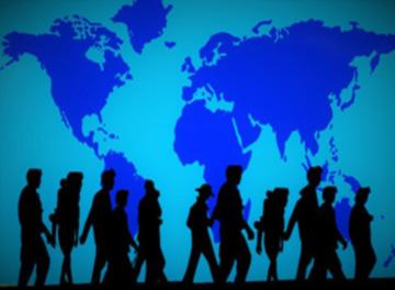 migranti in cammino