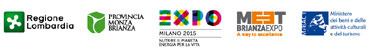 loghi Regione Lombardia; Provincia Monza Brianza;-EXPO Milano 2015; - MEET BrianzaExpo A way to excellence;- Ministero dei beni e delle attività culturali e del turismo