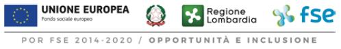loghi Repubblica Italiana - Regione Lombardia - Unione Europea - Fondo sociale europeo