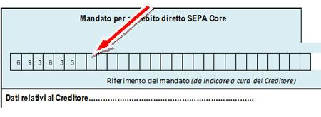 imagine mostrante dove indicare accanto il codice fiscale del genitore pagante