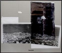 Alessandro Di Pietro: Lo stretto di Berlino, 2010 - assemblaggio di stampe Xerox, pennarello, alluminio e cartone, 170x200 cm