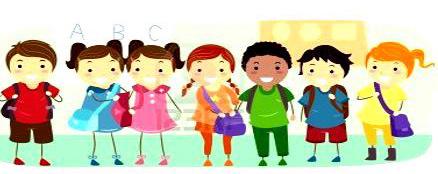 disegno bimbi a scuola