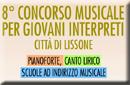 """Logo 8° Concorso Musicale per Giovani Interpreti """"Città di Lissone"""""""