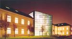 Immagine notturna della Biblioteca