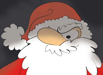 Particolare locandina La maledizione di Babbo Natale