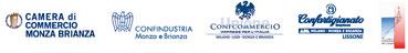 Loghi Camera di Commercio Monza Brianza - Confindustria Monza Brianza - Unione ConfCommercio Imprese per l'Italia Milano Lodi Monza Brianza - Confartigianato Impresa APA Milano Monza Brianza  LISSONE-
