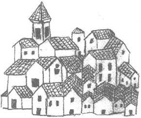 Ricostruzione ideografica di Lissone metà XVIII secolo