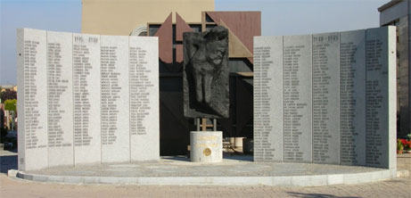 Monumento ai caduti delle due guerre presso il Cimitero di Lissone
