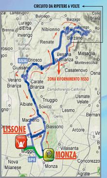 Immagine del percorso della corsa