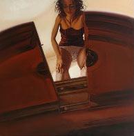 """Immagine premio stima 2004:""""dall'alto"""" olio 140 x 140  (2004)"""