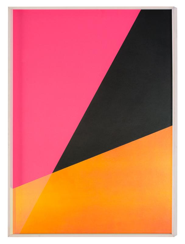 Matteo Negri, Riflesso riportato, 2017, grafite e pellicola fredda su cartoncino bianco cotone, cornice a cassetta e vetro antiriflesso, particolare, cm 100x70x6,