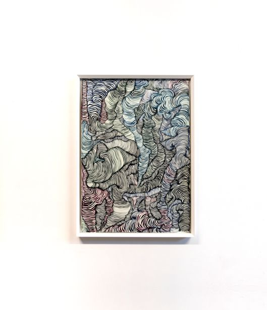 Maurizio Donzelli, DISEGNO DEL QUASI, 2016, acrilico su cartone, 138 x 101 x 7,5 cm.
