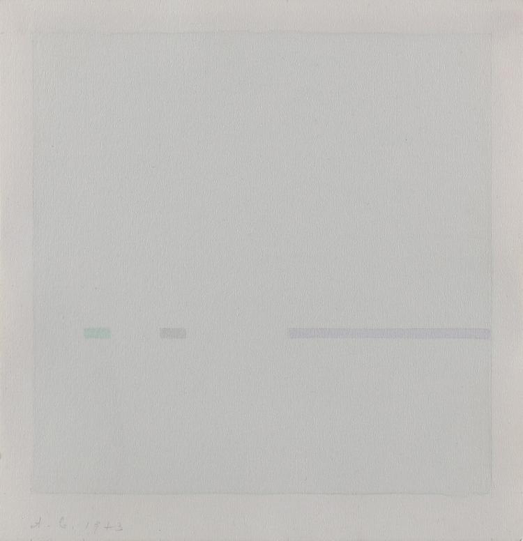 Antonio Calderara, Le quattro stagioni – omaggio a Antonio Vivaldi, 1975 serigrafia, 21x 19,5 cm