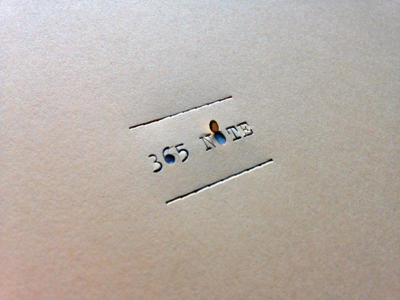 Marcello Signorile, 365 Note (a macchina), 2018, dettaglio